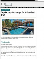 Top Luxury Getaways for Valentine's Day | The Brando