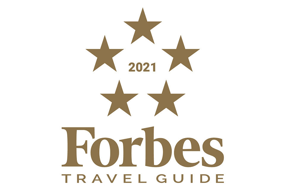 """2021 Forbes Travel Guide - """"Five-Star Hotel Award"""""""